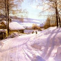Monsted On The Snowy Path