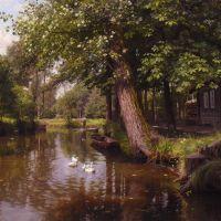 Monsted Skovparti Med Alob River Landscape 1903