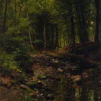 Monsted Skovstraekning Woodland Landscape 1907