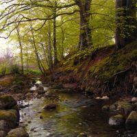 Monsted Vandlob I Skoven Stream In The Woods 1905