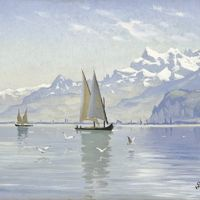 Monsted View Of Lake Vevey