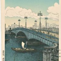 Noel Nouet Ryogoku Bridge Tokyo 1936