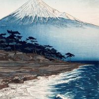 Okada Koichi Mount Fuji From Hagoromo Beach 1954