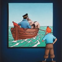 Ole Ahlberg Tintin - The Boat