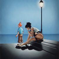 Ole Ahlberg Tintin - The Thinker