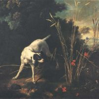 Oudry Jean Baptiste A Dog Pointing A Partridge