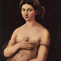 Raphael Portrait Of A Young Woman La Fornarina