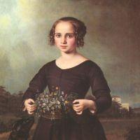 Rayski F Von Portrait Of A Young Girl