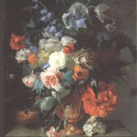 Roepel Coenraet Still Life With A Vase Of A Flowers On A Ledge In A Niche