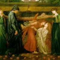 Rossetti Dantes Dream At The Time Of The Death Of Beatrice