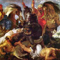 Rubens Hunt For Crocodile And Hypopotamus