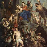 Rubens Madonna Enthroned With Child And Saints