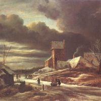 Ruisdael Paysage Hivernal