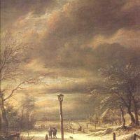 Ruisdael Paysage Hivernal Avec Reverbere