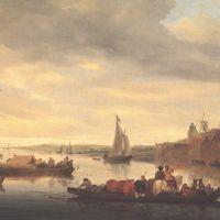 Ruysdael Salomon Van The Crossing At Nimwegen