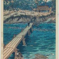 Shiro Kasamatsu Footbridge At Musashi Arashiyama 1953