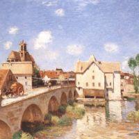 Sisley Alfred Le Pont Sur Le Moret