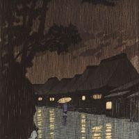 Sochu Kawese Hasui Rain At Maekawa 1932