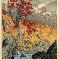 Takahashi Shotei Nembutsu Pool Nikko In Autumn