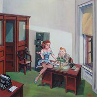 Tintin Hopper Office At Night