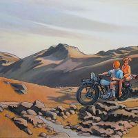 Tintin Hopper On The Motorcycle