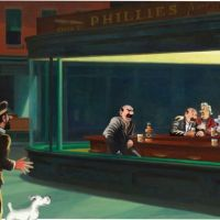 Tintin Nighthawks With Captain Haddock And Thomson And Thompson