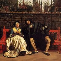Tissot Faust And Marguerite In The Garden