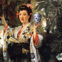 Tissot Young Lady Holding Japanese Objects