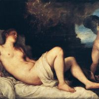 Titian Danae And The Shower Of Gold - 1544