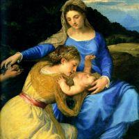 Titian Madonna Detail