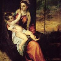 Titian Mary With The Christ Child 1561
