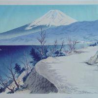 Tokuriki Tomikichiro Izu - In Shizuoka Eri Coast - Thirty-six Views Of Mount Fuji