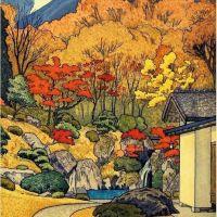 Toshi Yoshida Autumn In Hakone - 1954