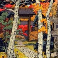 Toshi Yoshida Autumn In Hakone 1954