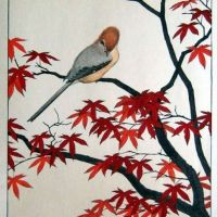 Toshi Yoshida Autumn Serenity Of Red Maple 1977