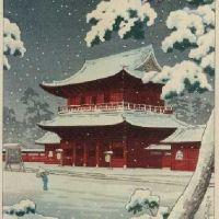 Tsuchiya Koitsu Zozoji Temple In Snow 1933
