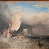 Turner Fishing Boats With Hucksters Bargaining For Fish