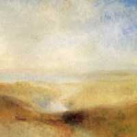 Turner Landscape With A River And A Bay In The Background