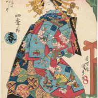 Utagawa Kunisada Spring From The Serie Four Seasons