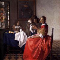 Vermeer A Lady And Two Gentlemen