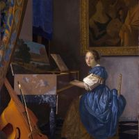 Vermeer A Young Woman Seated At A Virginal