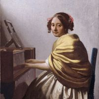 Vermeer A Young Woman Seated At The Virginal - Version 2