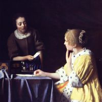 Vermeer Mistress And Maid
