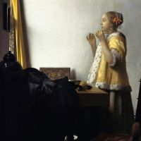 Vermeer Young Woman With A Pearl Necklace