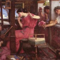 Waterhouse Penelope And The Suitors