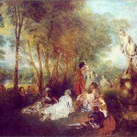 Watteau Jean Antoine Plaisirs D Amour