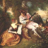Watteau Jean Antoine Scale Of Love La Gamme D Amour