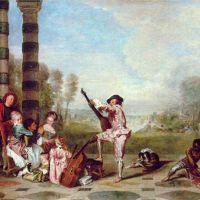 Watteau Jean Antoine The Delights Of Life Les Charmes De La Vie