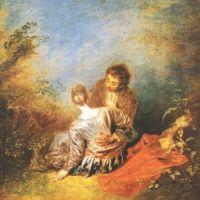 Watteau Jean Antoine The Indiscretion