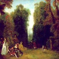 Watteau Jean Antoine The Perspective